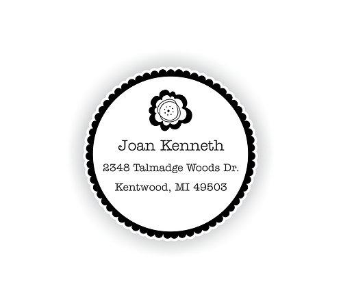 Address Circle Label Set