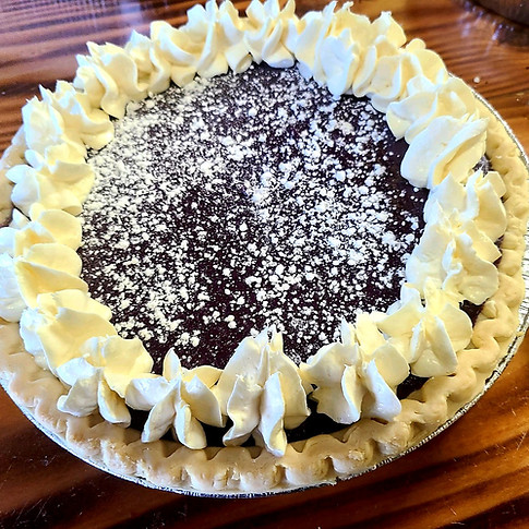 Chocolate Mousse Pie w/ Cream Cheese Icing