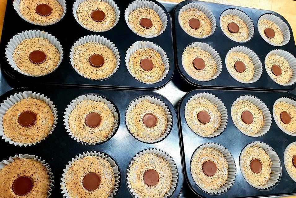 Chocolate Peanut Butter Cheesecakes w/ PB Oreo Crust