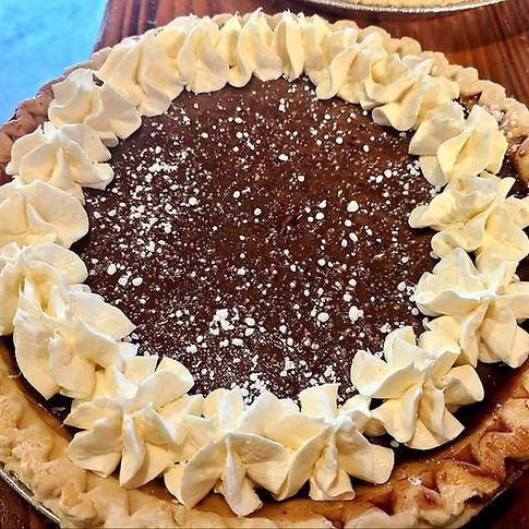 Chocolate Milk Pie w/ Cream Cheese Icing