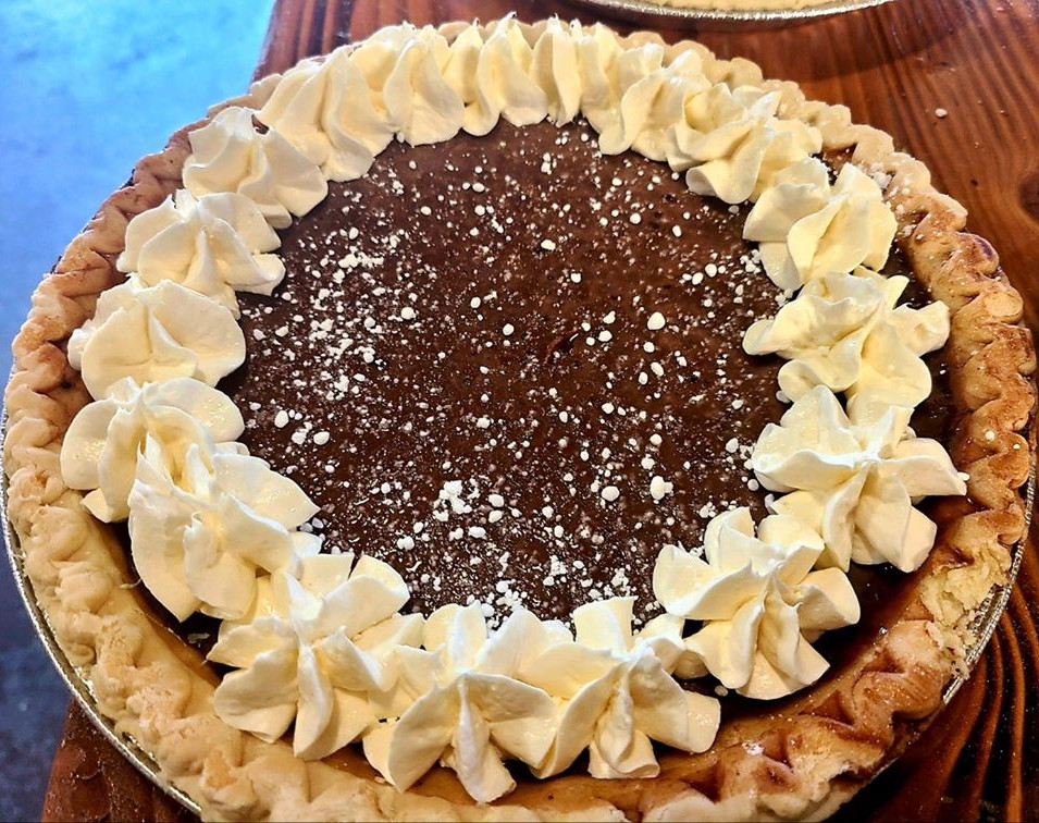 Chocolate Milk Pie w/ Cream Cheese Icing