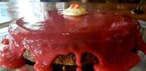 Chocolate Truffle Cheesecake w/ Strawber