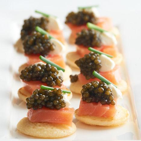 Salmon, Lachsfilet, beste Qualität, spitze Qualität, Kaviar