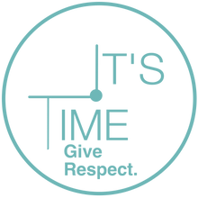 It's Time Give Respect Clock Teal w Tran