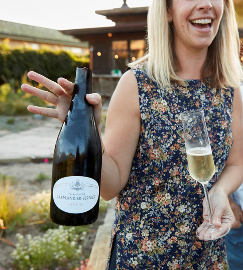 Zoe Johns of Turnbull Wines Sabered Champagne for SF Chronicle