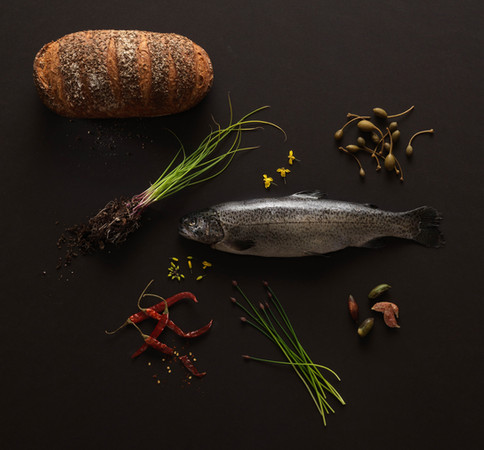 Jesus Food; Fish and Loaves. Jim Golden, Portland Oregon.
