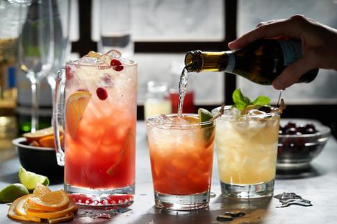Black Angus Restaurants; Beverage Styling Prosecco Drinks. Noel Barnhurst, Oakland CA.