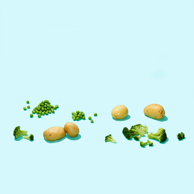 Meals on Wheels Promo Shoot. Vegetables. Maren Caruso, San Francisco.