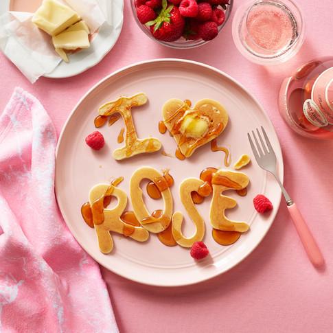 I love Rose Pancakes for Breakfast Barefoot Wines Annabelle Breakey