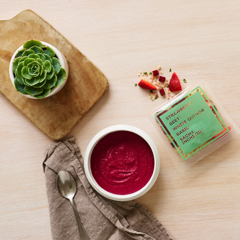 Raised Real_Strawberry Beet White Quinoa Baby food styling Alicia Deal