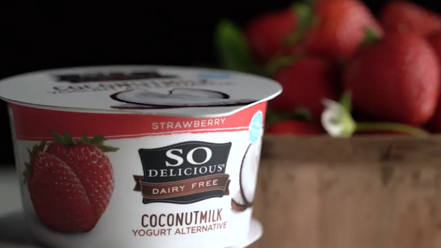 So Delicious Brand Strawberry Coconut Yogurt and Vanilla Coconut Yogurt