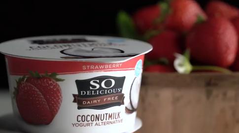 So Delicious Brand Strawberry Coconut Yogurt and Vanilla Coconut Yogurt
