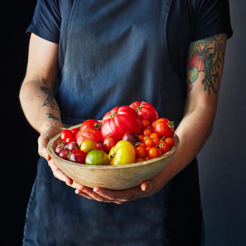 Rainbow Heirloom Tomatoes
