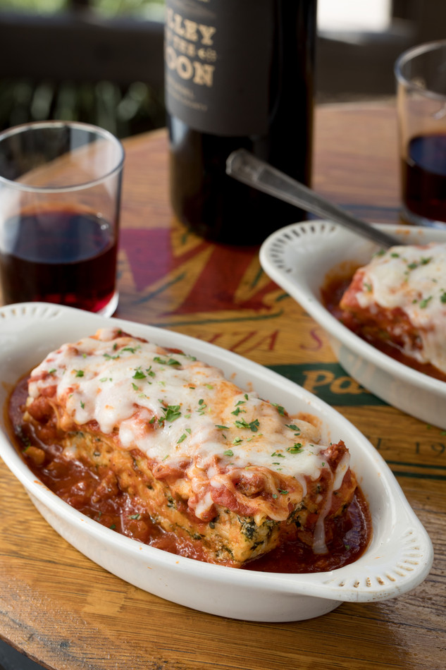Mary's Pizza Shack Sonoma Meat Lasagna Red Wine