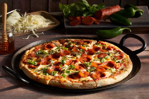 Zume Pizza Spicy Sweet Pepperoni Basil