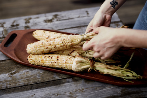 Grilled White Corn, Scheid Family Wines
