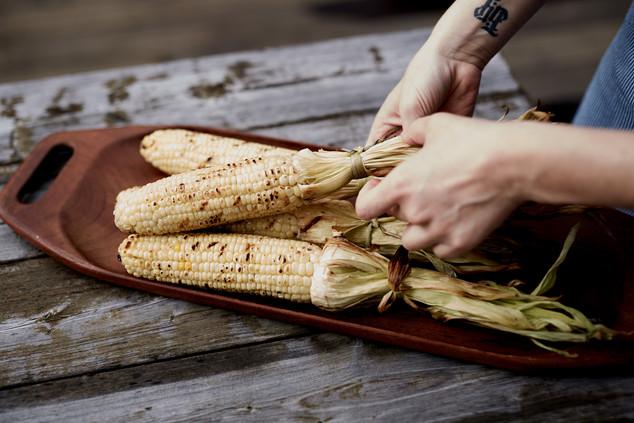 Grilled White Corn, Scheid Family Wines