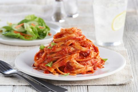 Contadina Del Monte Roasted Red Pepper Tomato Sauce Fettucini Pasta