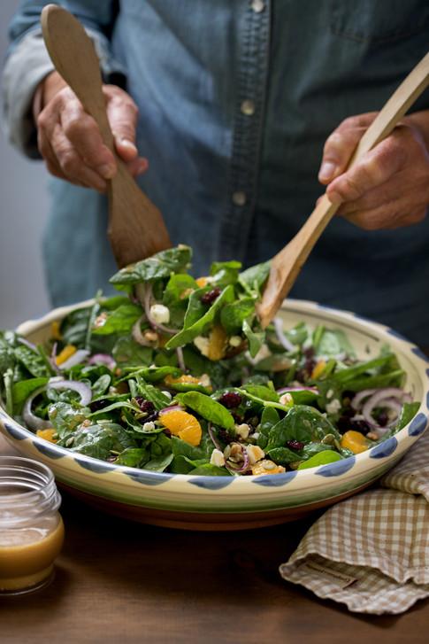 Spinach Salad, Mary's Pizza Shack Sonoma County