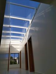 Teto em Vidro e Alumínio