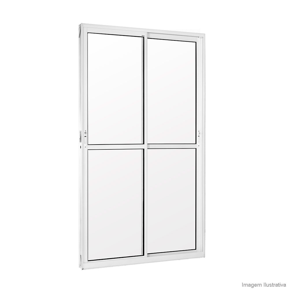Porta de Alumínio e vidro de correr