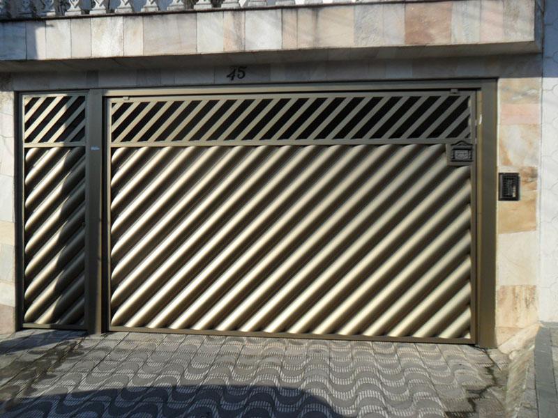 Portão Alumínio Bronze