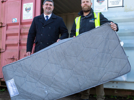 Ards and North Down Council Partnership Showcases Usel as NI Leader in Mattress Recycling