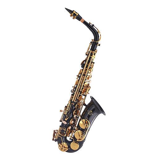 Kaizer 1000 Series Eb Alto Saxophone - Black Nickel - Gold Keys