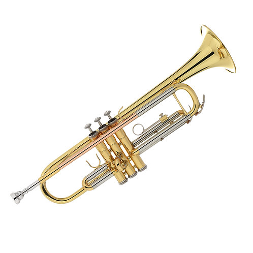 Kaizer 1000 Series Bb Trumpet - Gold Lacquer - Rose Brass - Cupronickel Slides