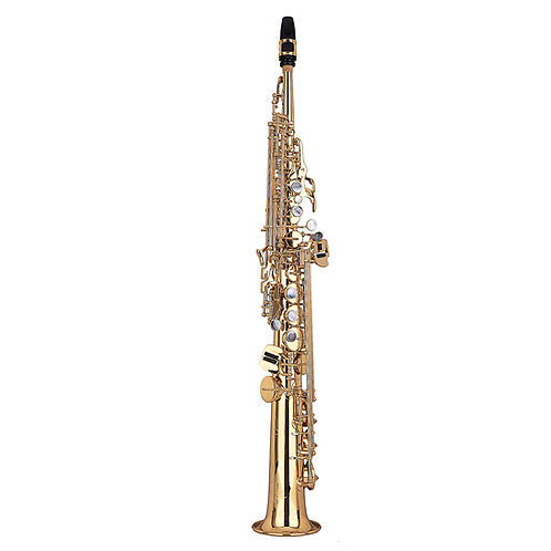 Kaizer 3000 Series Bb Soprano Saxophone - Gold Lacquer