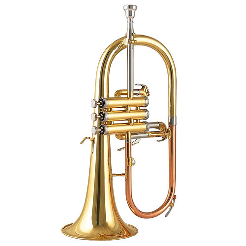 Kaizer 4000 Series Bb Flugelhorn - Gold Lacquer - Rose Brass - Cupronickel