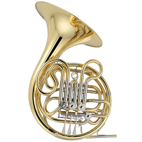 Kaizer 4000 Series Bb/F Double French Horn - Gold Lacquer - Rose Brass