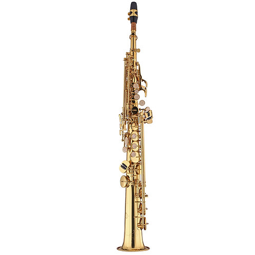 Kaizer 1000 Series Bb Soprano Saxophone - Gold Lacquer