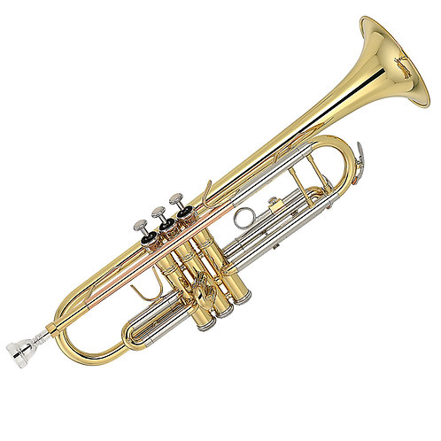 Kaizer 2000 Series Bb Trumpet - Gold Lacquer - Rose Brass - Cupronickel Slides