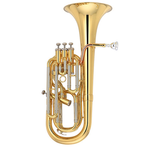 Kaizer 5000 Series Bb Baritone Horn - Gold Lacquered - Rose Brass - Cupronickel