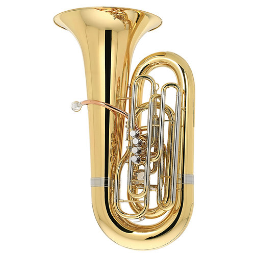 Kaizer 7000 Series C Tuba 5/4 - Gold Lacquer - Rose Brass - Cupronickel