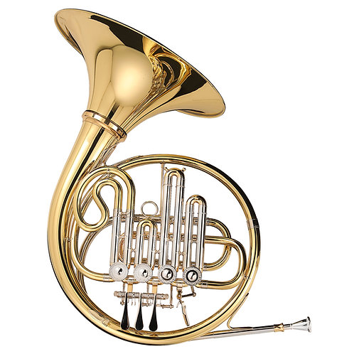 Kaizer 3000 Series Bb/A French Horn - Gold Lacquer - Rose Brass