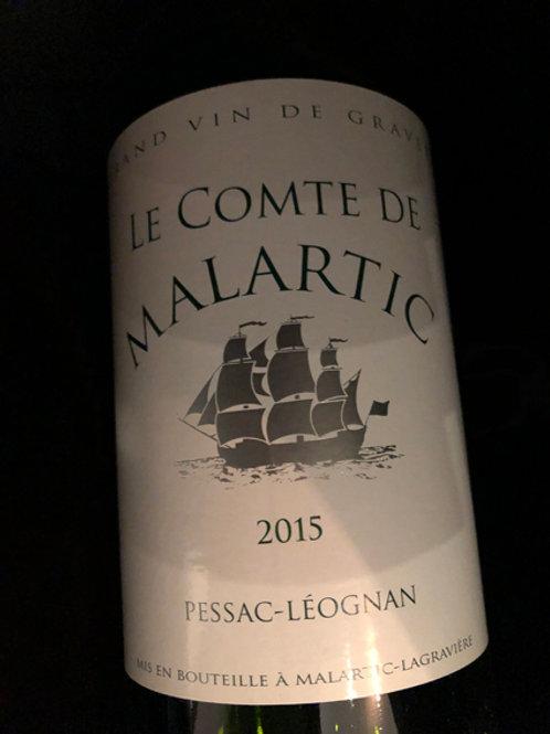 Le Comte de Malartic Pessac Leognan blanc 2015