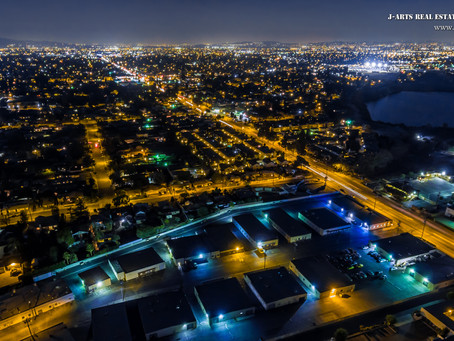 Twilight and night drone photography at Arcadia
