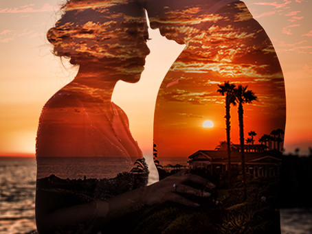 Beautiful sunset on Laguna Beach