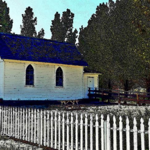 Photo in Pencil: Little White Church
