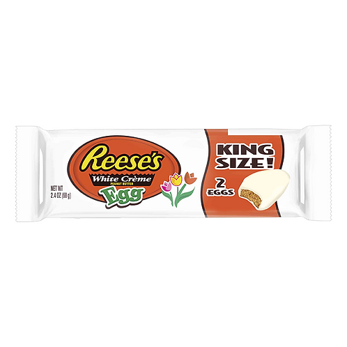 Reese's 2 Peanut Butter White Crème Eggs King Size  - 2.4oz