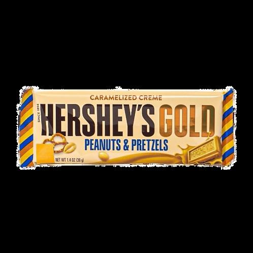 Hershey's Gold Bar Peanuts & Pretzels - 1.4oz