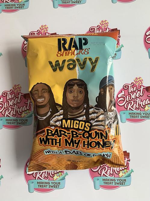 Rap Snacks Wavy Bar-B-Q Honey & Ranch - 2.75oz