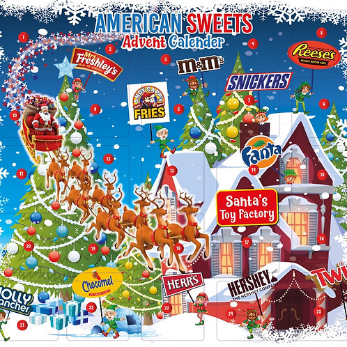 American Christmas Advent Calender
