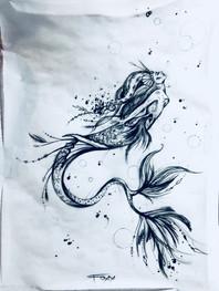 Sally Mustang tattoos mermaid