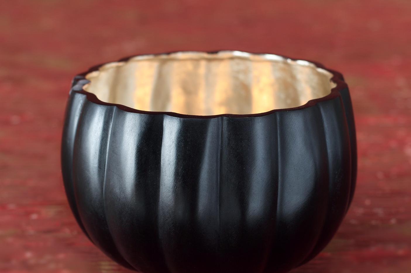 Bronze Pumpkin Bowls - Silver inside