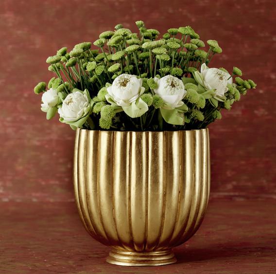 Bronze Flower Bowl