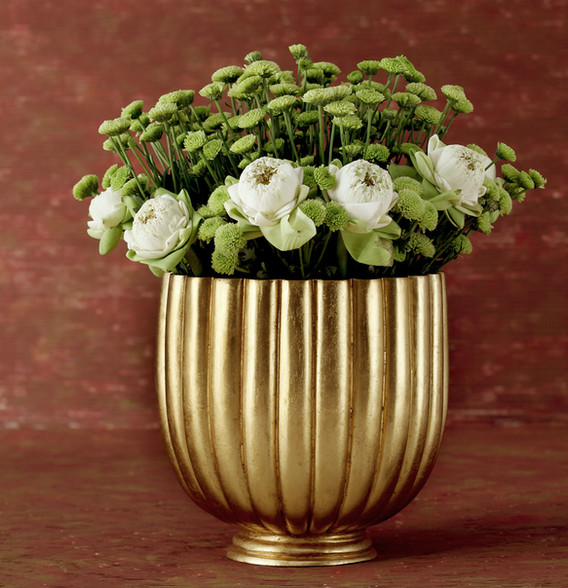 Large bronze vase