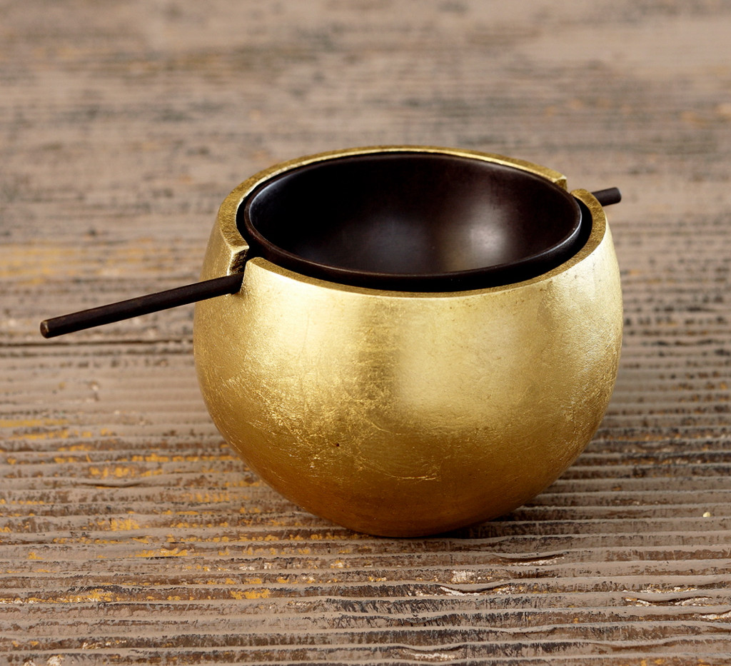 Spherical Ashtray (Gold)